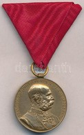 1898. 'Jubileumi Emlékérem Fegyveres Erő Számára / Signum Memoriae (AVSTR)' Br Kitüntetés  Mellszalaggal T:1-  Hungary 1 - Coins & Banknotes