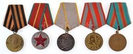 5db-os Vegyes Szovjet Kitüntetés Tétel, Közte 1945. 'A Németország Felett Aratott Győzelemért Az 1941-1945-ös Nagy Honvé - Coins & Banknotes