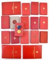 14db-os Kitüntetés Tétel Nagyrészt Saját Dobozában, Valamint 3db Adományozói Okirat T:vegyes - Coins & Banknotes