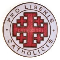 ~1930. 'Pro Liberis Catholicis' Zománcozott Cu Jelvény, Hátoldalán 'BERÁN  N. BPEST DÖBRENTEI U. 2.' Gyártói Jelzéssel ( - Coins & Banknotes