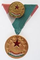 ~1960. 'Kiváló Tanító' Aranyozott, Zománcozott Kitüntetés Mellszalagon, Miniatűrrel, Dísztokban T:2 - Coins & Banknotes