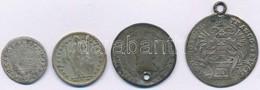4db-os Vegyes Külföldi Rossz Tartású és Sérült Ezüstpénz Tétel T:3,3- Ly.,fül - Coins & Banknotes