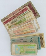 30db-os Vegyes Magyar és Külföldi Bankjegy Tétel T:III,III- - Coins & Banknotes