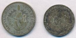 Vegyes: 1929. 2P Ag 'Madonna' + Német Harmadik Birodalom 1938J 2M Ag 'Hindenburg' T:3 Patina Mixed: Hungary 1929. 2 Peng - Coins & Banknotes