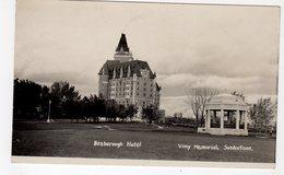 SASKATOON, Saskatchewan, Canada, Besborough (spelling Mistake) Hotel & Vimy Memorial, 1947 RPPC - Saskatoon