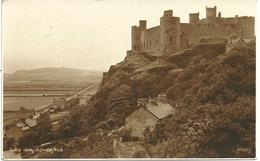 REAL PHOTOGRAPHIC POSTCARD HARLECH CASTLE BY JUDGES WITH GOOD WAENFAWR CAERNARVON POSTMARK - Caernarvonshire