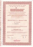 T 1USINOR : Obligation De 3000 Frs                                    1982 (N=1) - Otros