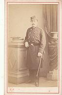 PHOTO CDV 19 EME MILITAIRE SOLDAT SAVOIE Sur Sa Casquette Cabinet CHAMUSSY  A CHAMBERY - Guerre, Militaire