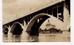 SASKATOON, Saskatchewan, Canada, Broadway Bridge & Bessborough Hotel,  1937 RPPC - Saskatoon