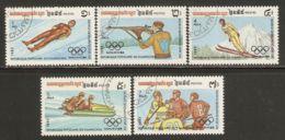 Cambodia 1983 Mi# 517-521 Used - 1984 Winter Olympic Games, Sarajevo - Cambodia