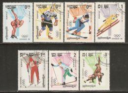 Cambodia 1984 Mi# 538-544 Used - Winter Olympic Games, Sarajevo (II) - Cambodia