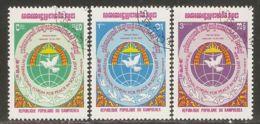 Cambodia 1984 Mi# 557-559 Used - Intl. Peace In Southeast Asia Forum - Cambodia