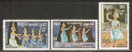 Cambodia 1985 Mi# 663-665 Used - Traditional Dances - Cambodia