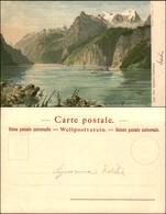 CARTOLINE - REGIONALISMO-SVIZZERA - Lac Des Quatre-Cantons - Litografia Ed. Gussoni Milano - Scritta Non Viaggiata - Stamps