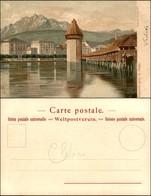 CARTOLINE - REGIONALISMO-SVIZZERA - Lucerne Avec Le Pilate - Litografia Ed. Gussoni Milano - Scritta Non Viaggiata - Stamps