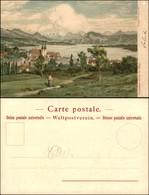 CARTOLINE - REGIONALISMO-SVIZZERA - Lucerne Avec Le Rigi - Litografia Ed. Gussoni Milano - Scritta Non Viaggiata - Stamps