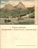 CARTOLINE - REGIONALISMO-SVIZZERA - Brunnen - Litografia Ed. Gussoni Milano - Scritta Non Viaggiata - Stamps