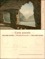 CARTOLINE - REGIONALISMO-SVIZZERA - Axentstrasse - Litografia Ed. Gussoni Milano - Scritta Non Viaggiata - Stamps