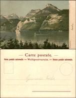 CARTOLINE - REGIONALISMO-SVIZZERA - Axenstein - Litografia Ed. Gussoni Milano - Scritta Non Viaggiata - Stamps