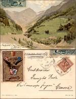 CARTOLINE - REGIONALISMO-SVIZZERA - Sempione - Berisal - Cartolina Illustrata Viaggiata 1905 - Stamps