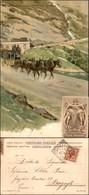 CARTOLINE - REGIONALISMO-SVIZZERA - Sempione - Galleria D'inverno E Diligenza - Cartolina Illustrata - Viaggiata 1905 - Stamps