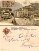 CARTOLINE - REGIONALISMO-SVIZZERA - Sempione - Ponte Di Crevola - Cartolina Illustrata Viaggiata Primi '900 - Stamps