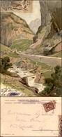 CARTOLINE - REGIONALISMO-SVIZZERA - Sempione - Gola Do Gondo - Cartolina Illustrata Viaggiata Primi '900 - Stamps