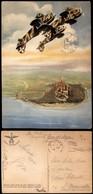 """CARTOLINE - AVIAZIONE - Arma Aeronautica - Tre CR.32 In """"looping"""" (N.002) - Viaggiata 1943 - Francobollo Asportato (20) - Stamps"""