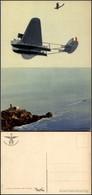 CARTOLINE - AVIAZIONE - Arma Aeronautica - Idrovolanti In Volo Sulla Costa - Illustratore Ferrari G. - Nuova FG (35) - Stamps