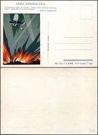CARTOLINE - AVIAZIONE - Arma Aeronautica - Piccola Vignetta Futurista E Frase Di Mussolini - Nuova FG (40) - Stamps