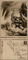 CARTOLINE - AVIAZIONE - Aerofonista Cieco Che Sfida La Mitraglia Nemica - Viaggiata 5.7.1943 FG - Leggere Pieghe Ai Marg - Stamps