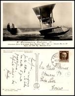 CARTOLINE - AVIAZIONE - Regia Aeronautica Italiana - Idrovolante Savoia S.62 Fotografica - Viaggiata 15.5.1935 - Stamps