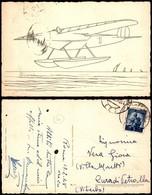 CARTOLINE - AVIAZIONE - Idrovolante - Bianco E Nero Per Dipingere - Viaggiata 1948 - Stamps