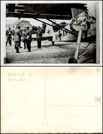 CARTOLINE - AVIAZIONE - Göring E Hitler Si Stringono La Mano Accanto Ad Un Aeroplano Della Luftwaffe - Fotografica Nuova - Stamps