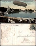 CARTOLINE - AVIAZIONE - Gruss Aus Tegelort - Dirigibile Su Tegel - Viaggiata - Stamps