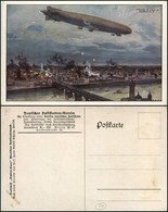 CARTOLINE - AVIAZIONE - German Zeppelin Over The City Of Warsaw - Illustrata By Hans Rudolf Schulze - Nuova - Stamps