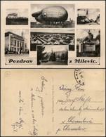 CARTOLINE - AVIAZIONE - Cecoslovacchia - Pozdrav Z Milovic - Saluti Dalla Milizia - 7 Piccole Immagini Una Con Dirigibil - Stamps