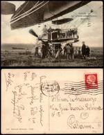 """CARTOLINE - AVIAZIONE - Navicella Del Dirigibile Militare Francese """"Republique"""" - Viaggiata 29.12.33 - Stamps"""