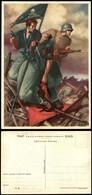 """CARTOLINE - PROPAGANDISTICHE - Camicia Nera E Tedesco """"La Disperata"""" - Illustratore Boccasile - Nuova FG (30) - Stamps"""