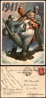 CARTOLINE - PROPAGANDISTICHE - Italiano Che Strappa Dente A John Bull - Illustratore Boccasile - Viaggiata P.M. N.ro 152 - Stamps