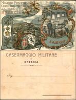 CARTOLINE - MILITARI-VARIE - Magazzino Principale Casermaggio Militare Della Divisione Di Brescia - Nuova - Stamps