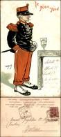 CARTOLINE - MILITARI/UMORISTICHE - Le Pju Pju- Illustratore Van Dock - Viaggiata 1901 - Stamps