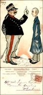 CARTOLINE - MILITARI/UMORISTICHE - Ufficiale E Soldato - Illustratore Van Dock - Viaggiata 1901 - Stamps