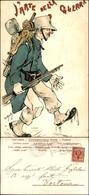CARTOLINE - MILITARI/UMORISTICHE - L'arte Della Guerra - Illustratore Van Dock - Viaggiata 1901 - Stamps