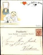 CARTOLINE - MILITARI/UMORISTICHE - Mio Bene Adorato - Illustratore Van Dock - Viaggiata Primi '900 - Stamps