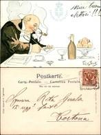 CARTOLINE - MILITARI/UMORISTICHE - Miei Buoni Elettori - Illustratore Van Dock - Viaggiata 1902 - Stamps