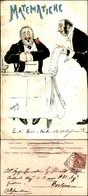 CARTOLINE - MILITARI/UMORISTICHE - Matematiche - Illustratore Van Dock - Viaggiata 1901 - Stamps