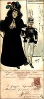 CARTOLINE - MILITARI/UMORISTICHE - Comando Del Reggimento - Illustratore Van Dock - Viaggiata 1901 - Stamps