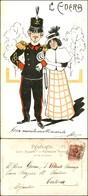 CARTOLINE - MILITARI/UMORISTICHE - L'edera - Cartolina Illustrata - Viaggiata 1902 - Stamps