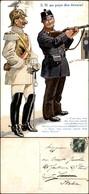 CARTOLINE - MILITARI/UMORISTICHE - S.M. Au Pays Des Tireus! - Viaggiata 1912 - Stamps